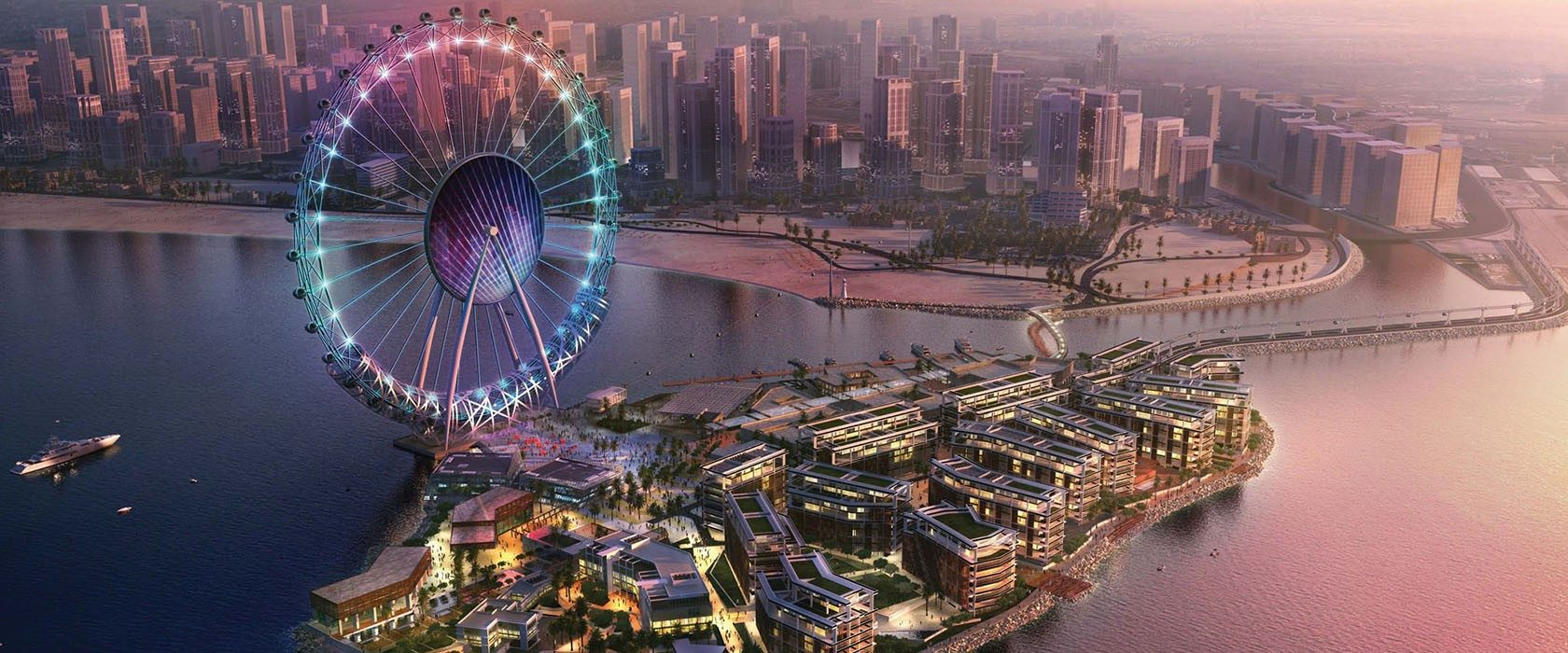 The Ain Dubai, the largest Ferris wheel in the world (opening 2021)
