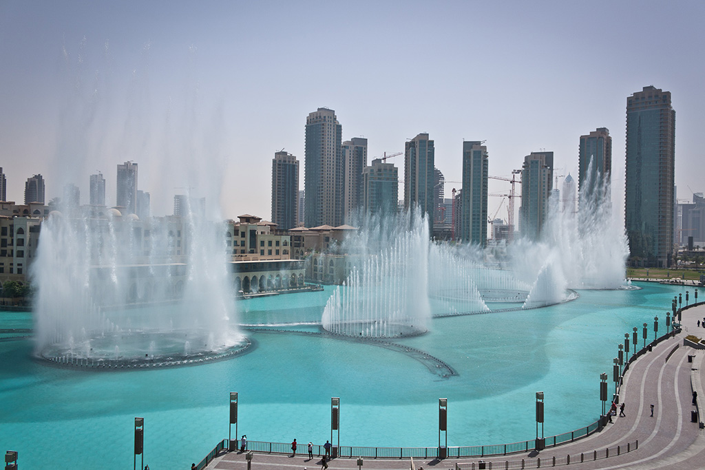 The Dubai Fountain in Downtown Dubai