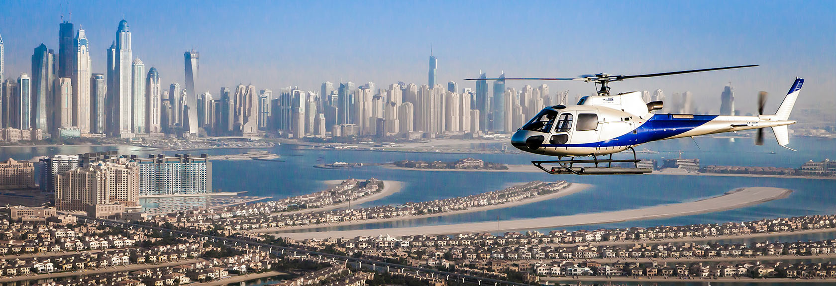 Helicopter flights over Dubai