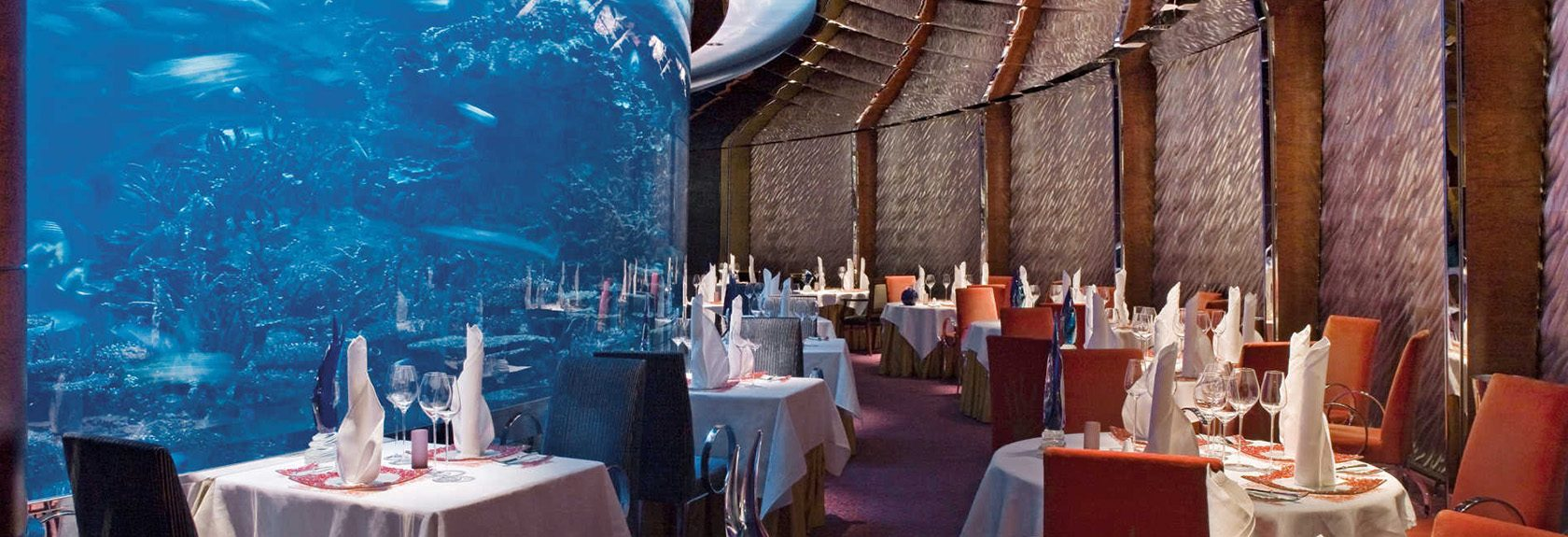 Lunch and dining at the the Burj al Arab