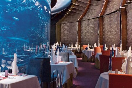 Dining at the Burj al Arab hotel