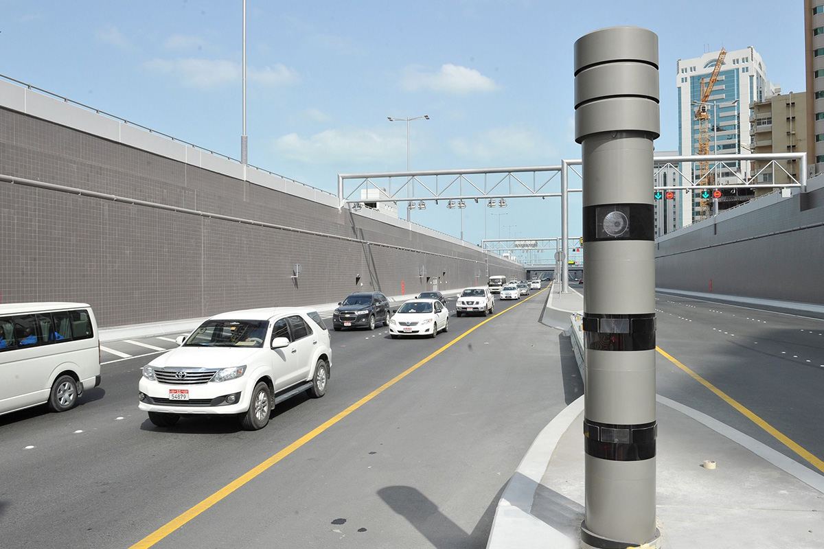 Speed cameras in Dubai
