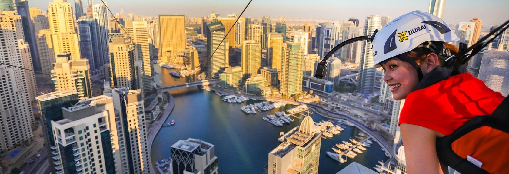 XLine Dubai Marina – longest urban zipline of the world